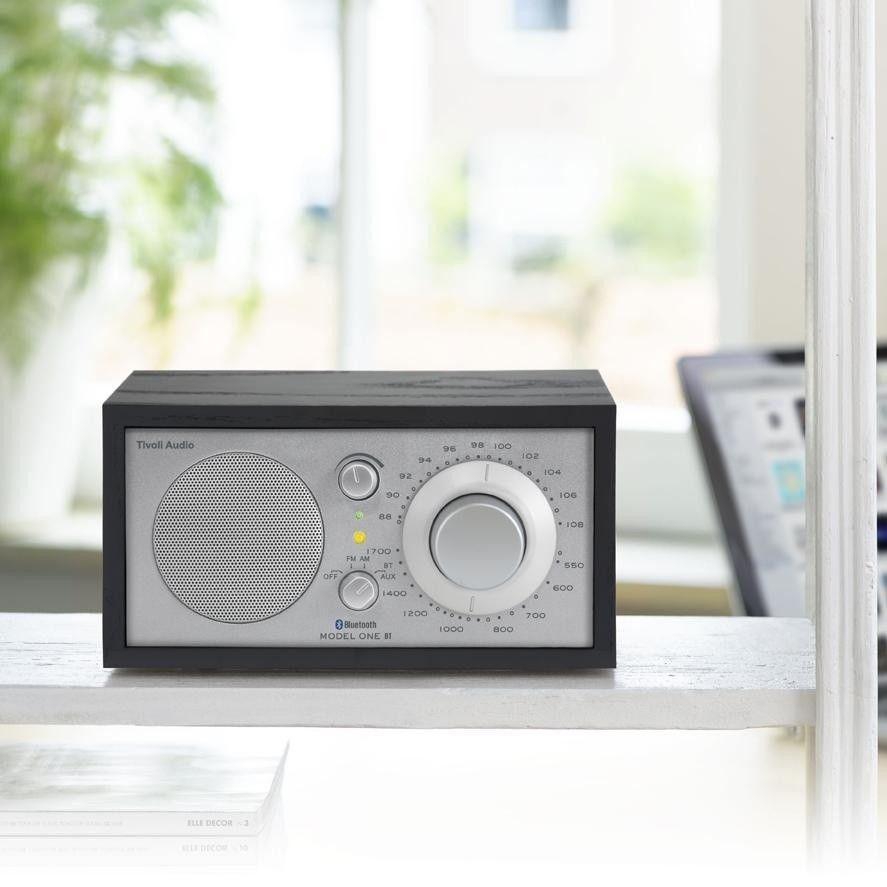 tivoli model one bt radio with bluetooth tivoli. Black Bedroom Furniture Sets. Home Design Ideas