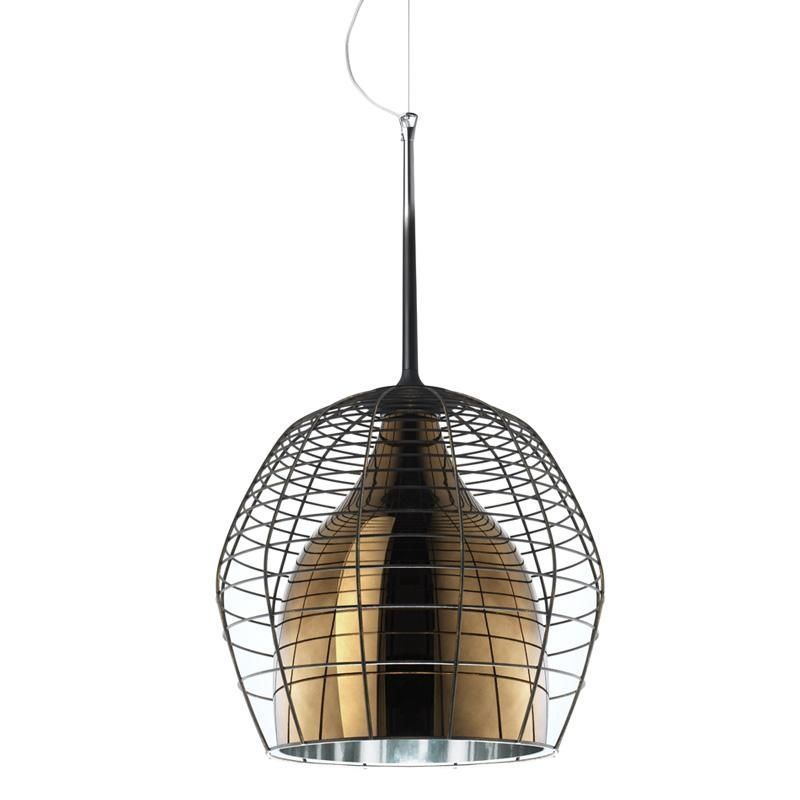 Cage grande suspension lamp diesel for Suspension 4 lampes
