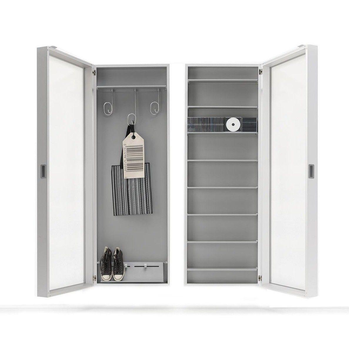 foot box h nge schuhschrank kristalia. Black Bedroom Furniture Sets. Home Design Ideas