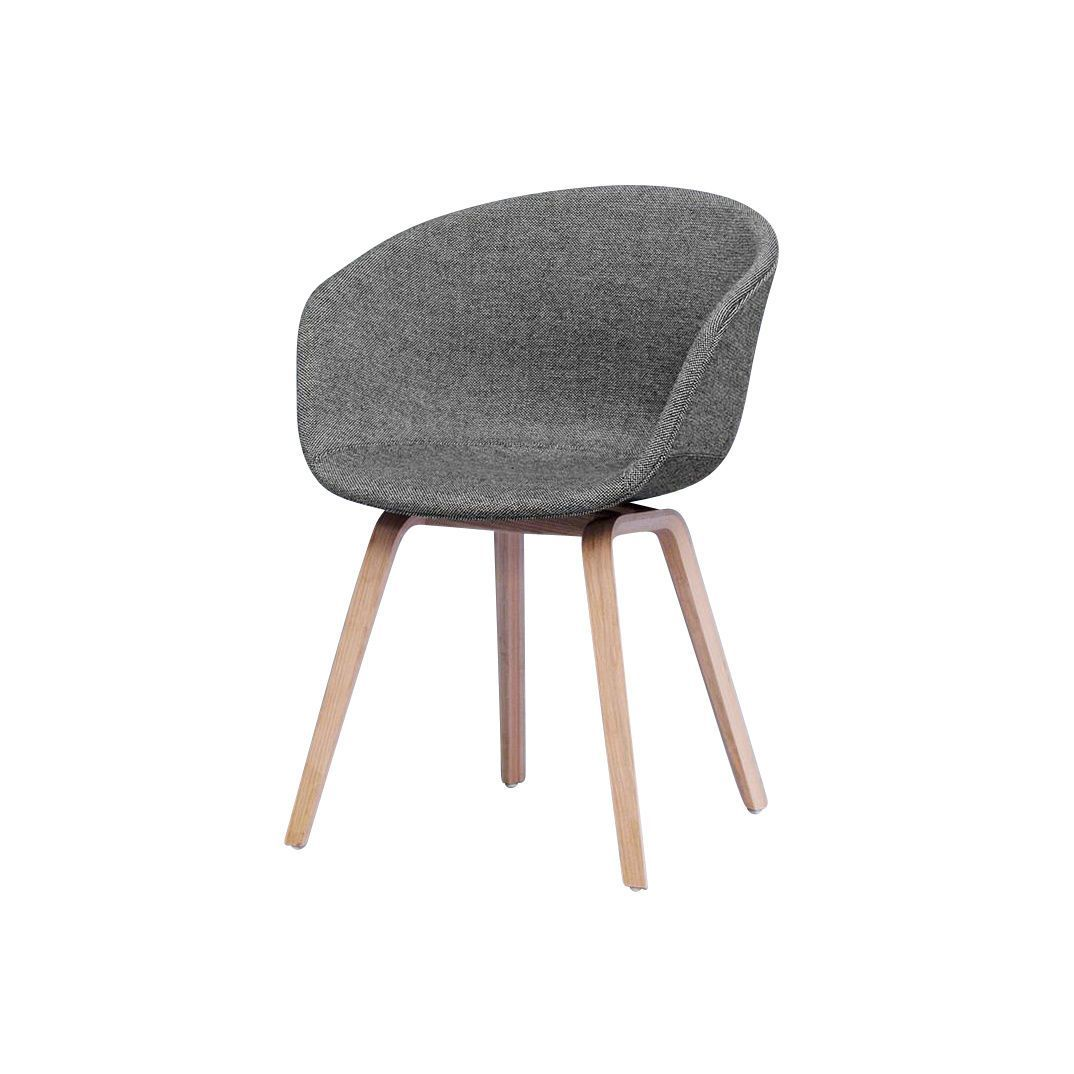 About a chair 23 armlehnstuhl gepolstert hay for Armlehnstuhl grau stoff