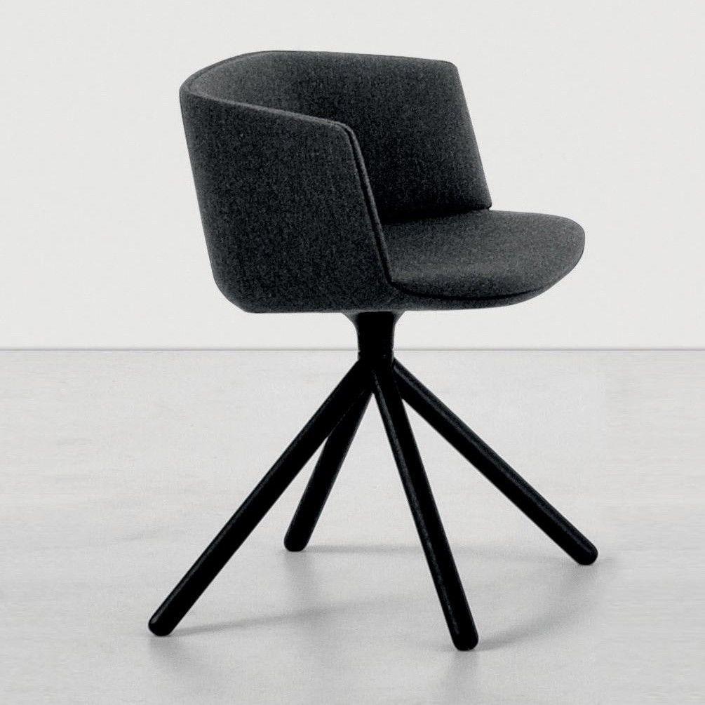cut armlehnstuhl gepolst holzgestell schwarz la palma. Black Bedroom Furniture Sets. Home Design Ideas