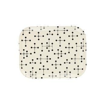Vitra - Classic Tray Dot Pattern Light Tablett - creme/schwarz/LxBxH 36x28x2cm