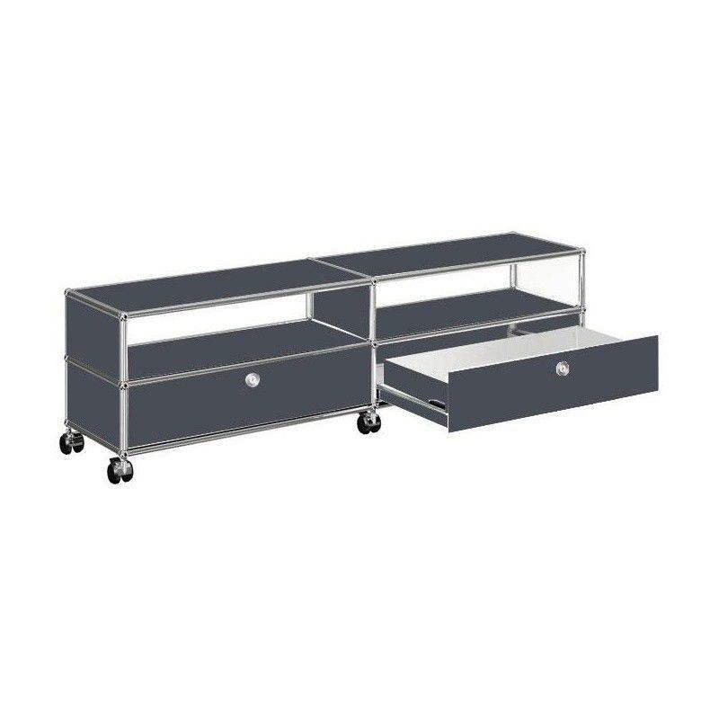 usm tv hi fi sideboard mit 2 schubladen unten usm haller. Black Bedroom Furniture Sets. Home Design Ideas