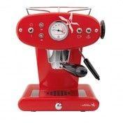 Illy - X1 IPSO Kapsel-Espressomaschine - rot/Metall/inkl. 18 Kapseln (N-Röstung)