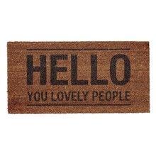 Bloomingville - Hello People Doormat