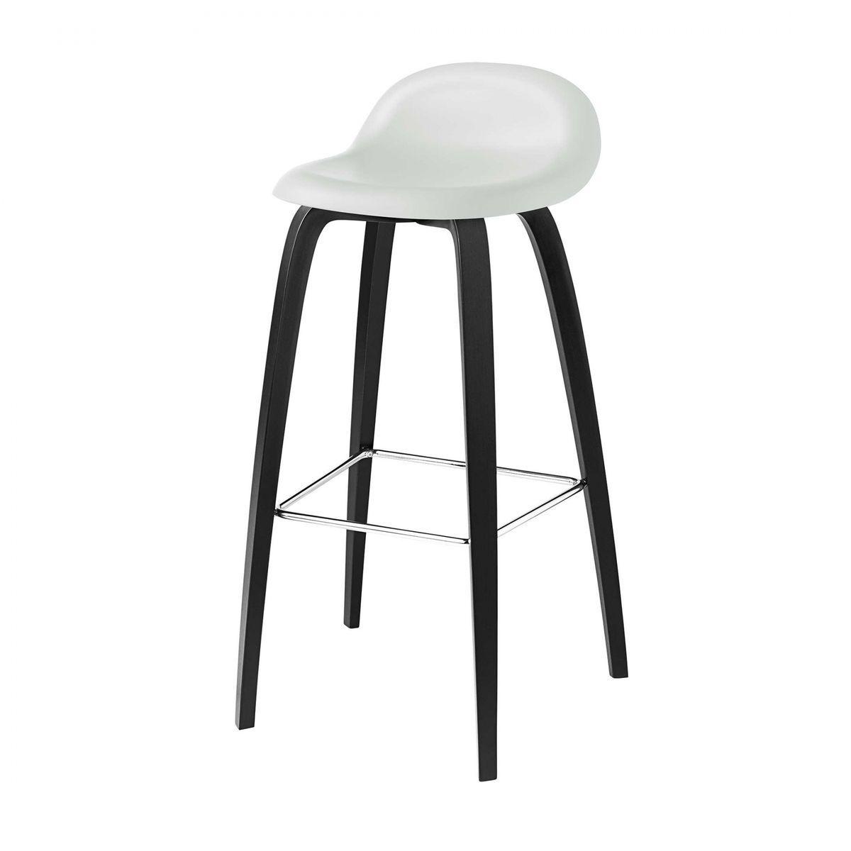 Gubi 3d bar stool barhocker mit buchengestell gubi for Schwarze barhocker