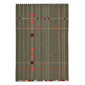 Nanimarquina - Rabari 4 Neuseeland-Woll Teppich - grau bunt/300x400cm