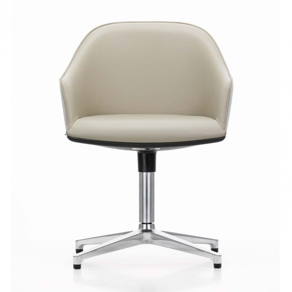 Softshell chair chaise de conf rence cuir vitra for Soldes vitra