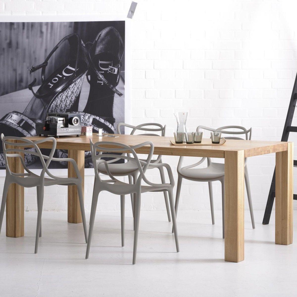 Mr big table de salle manger bois massif adwood for Salle a manger en bois massif