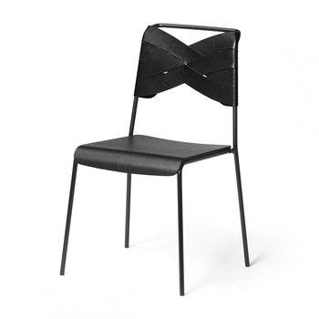 - Torso Stuhl - schwarz/Esche schwarz/Gestell schwarz pulverbeschichtet/52x83x47cm