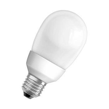 QualityLight - FLUO E27 Ball 18W 827 - opal/Glas/Energieeffizienzklasse b/Gewichteter Energieverbrauch 20 kW/1000 h
