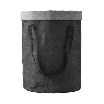 - Menu Cotton Bag Wäschekorb - dunkelgrau/H 60cm, Ø 38cm, 68L