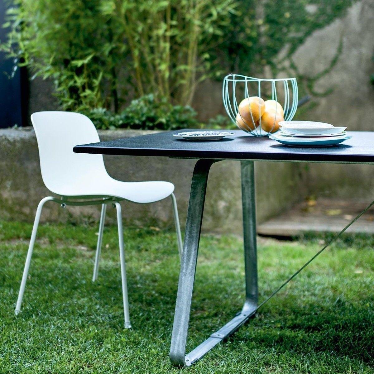 Magis troy set de 4 chaises de jardin magis chaise for Set table jardin