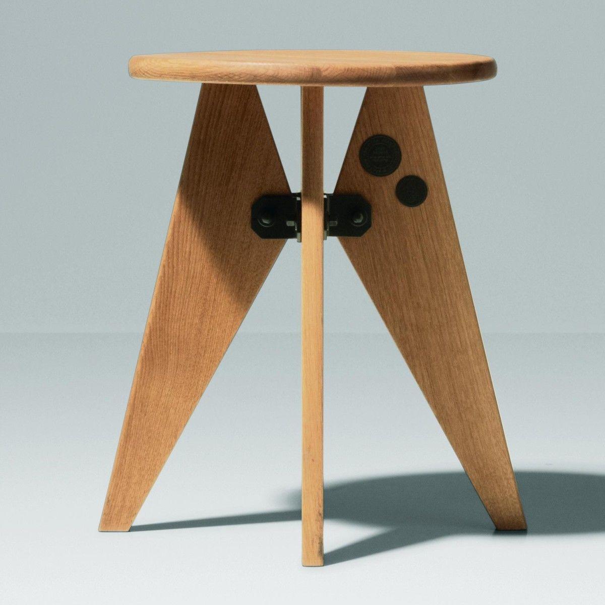 tabouret solvay prouv stool vitra. Black Bedroom Furniture Sets. Home Design Ideas