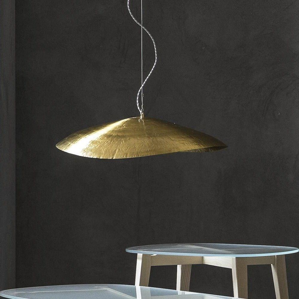 Brass 96 suspension lamp gervasoni for Suspension a 3 lampes