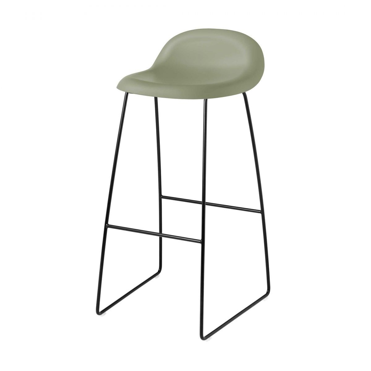 Gubi 3d bar stool kufengestell schwarz gubi for Barhocker 3d