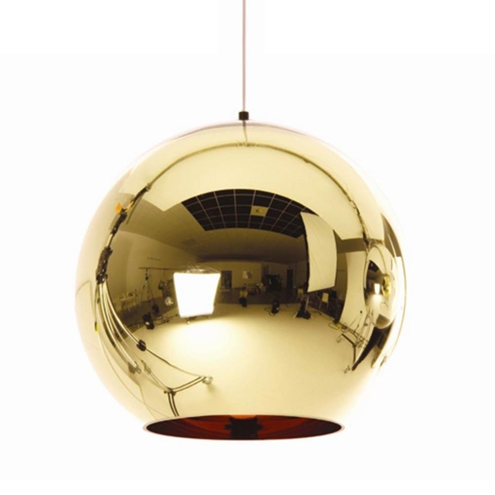 Copper shade suspension lamp tom dixon for Suspension 4 lampes