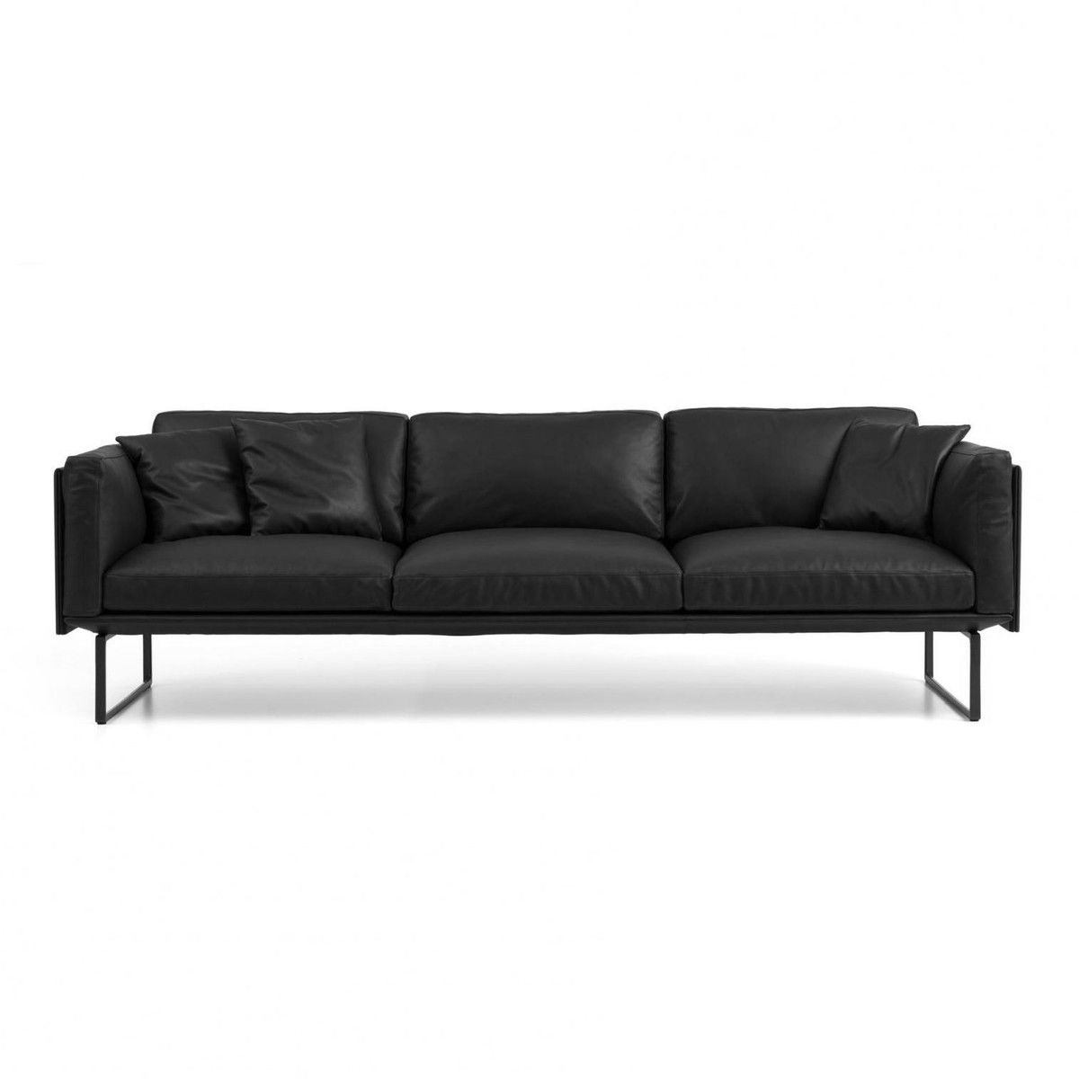 8 Piero Lissoni 3-Seater Leather Sofa  Cassina ...