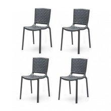Pedrali - Tatami Garden Chair 4-Piece Set