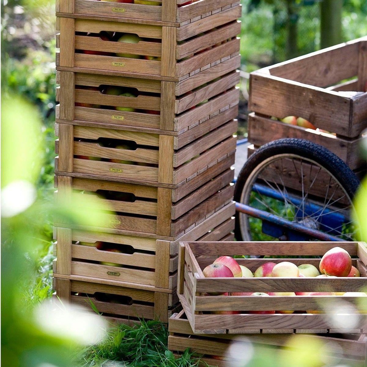 dania caisse pommes bo te en bois box 4 skagerak bo tes de rangement rangement. Black Bedroom Furniture Sets. Home Design Ideas