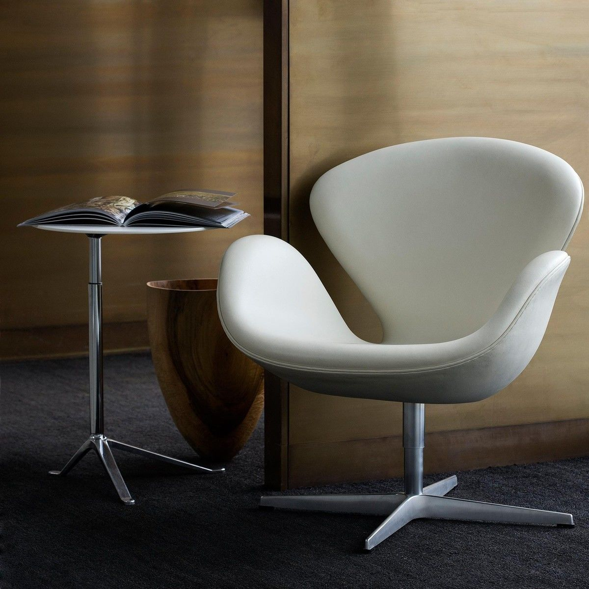 swan chair leather fritz hansen. Black Bedroom Furniture Sets. Home Design Ideas