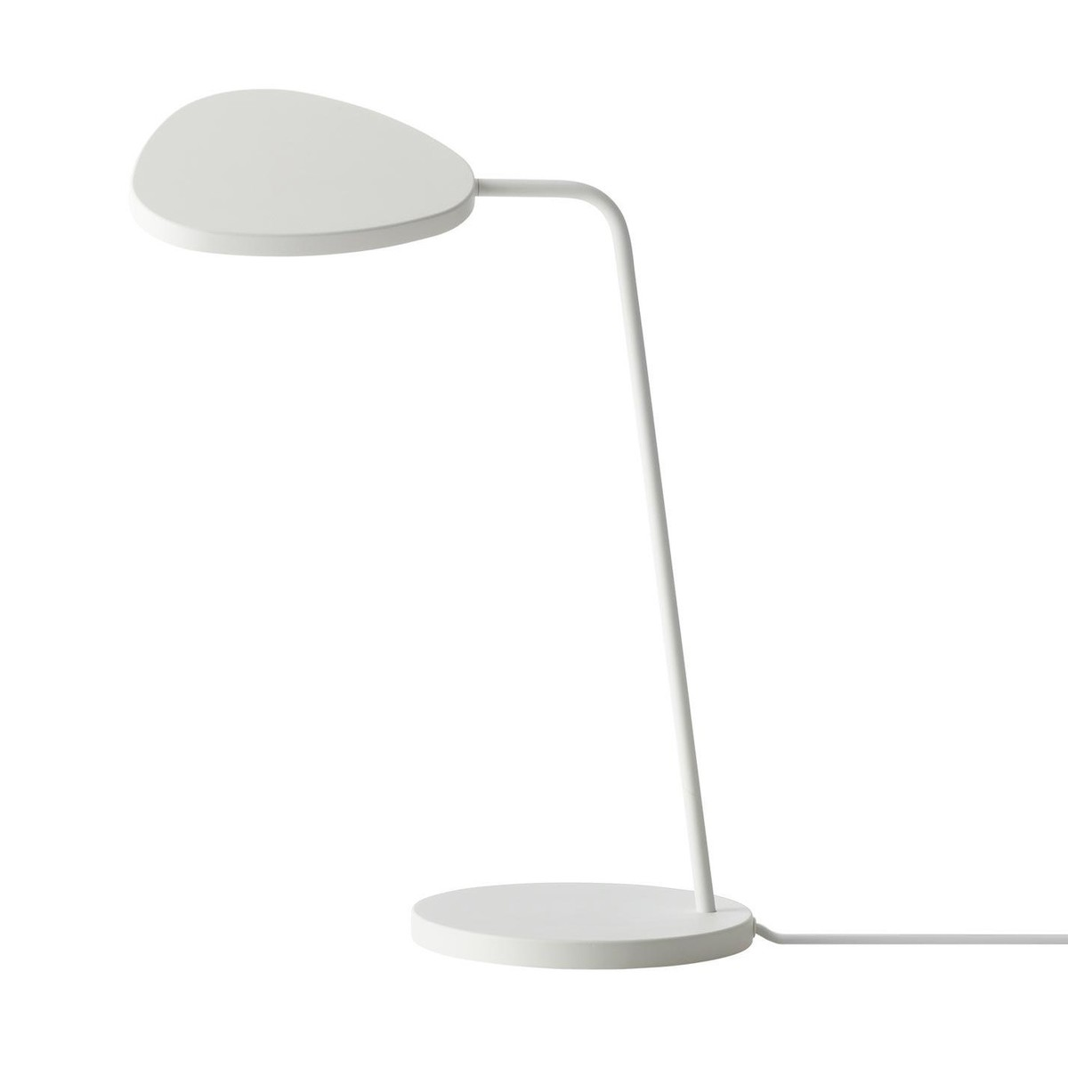 leaf led table lamp  muuto  lighting  ambientedirectcom - muuto  leaf led table lamp  whitelacqueredh cm
