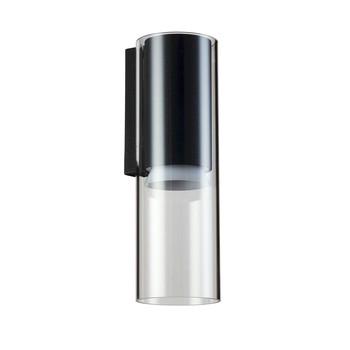 - F+P Wandleuchte  - aluminium/schwarz/pulverbeschichtet/3000K 39 lm/W