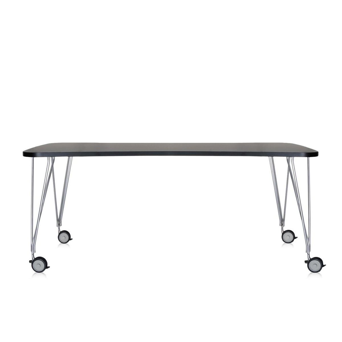 max table sur roulettes 190x90cm kartell. Black Bedroom Furniture Sets. Home Design Ideas