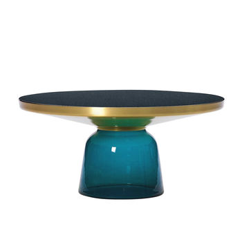 ClassiCon - Bell Kaffeetisch Messing - montana-blau/Ø75cm/H:36cm