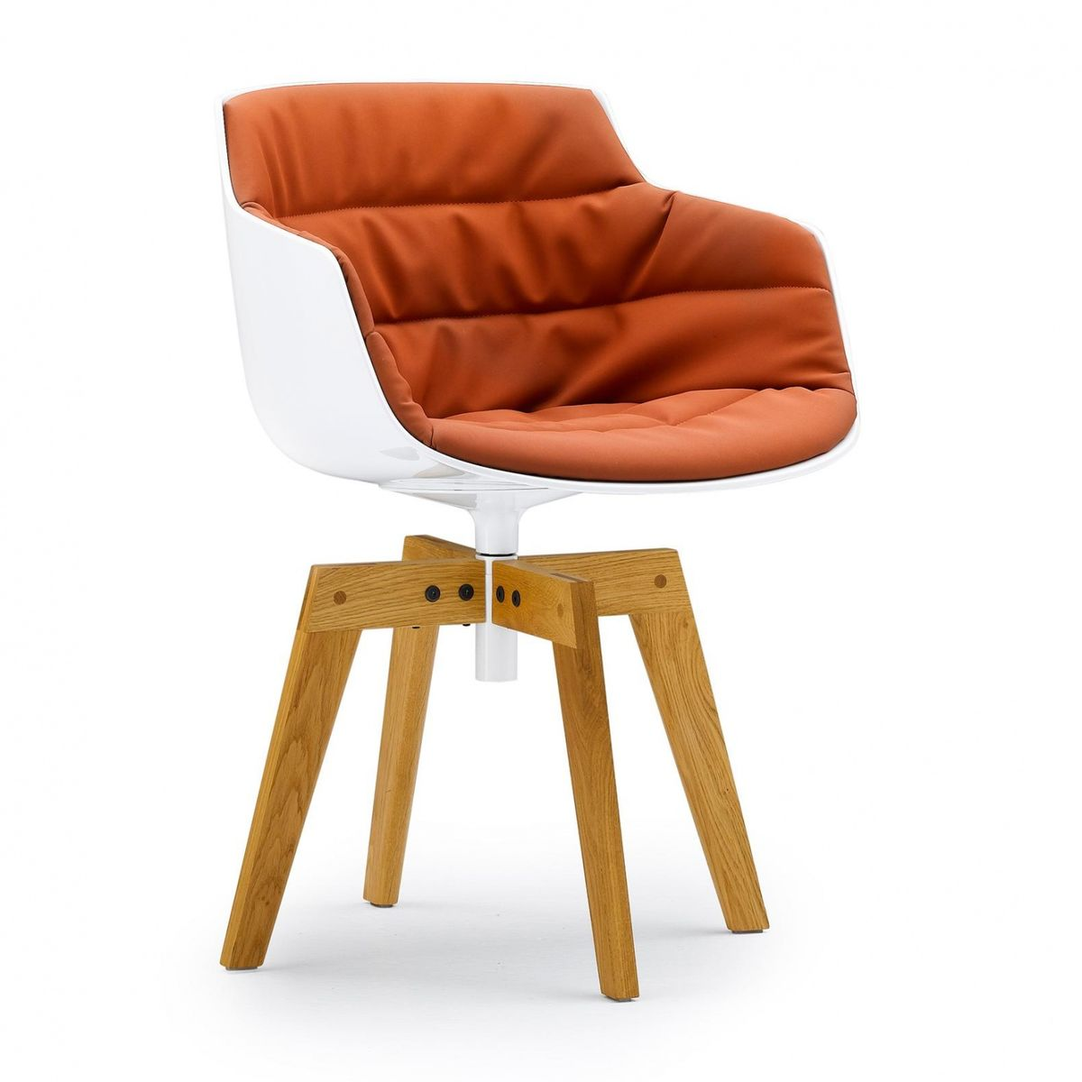 Flow Slim Armchair Upholstered Oak Mdf Italia
