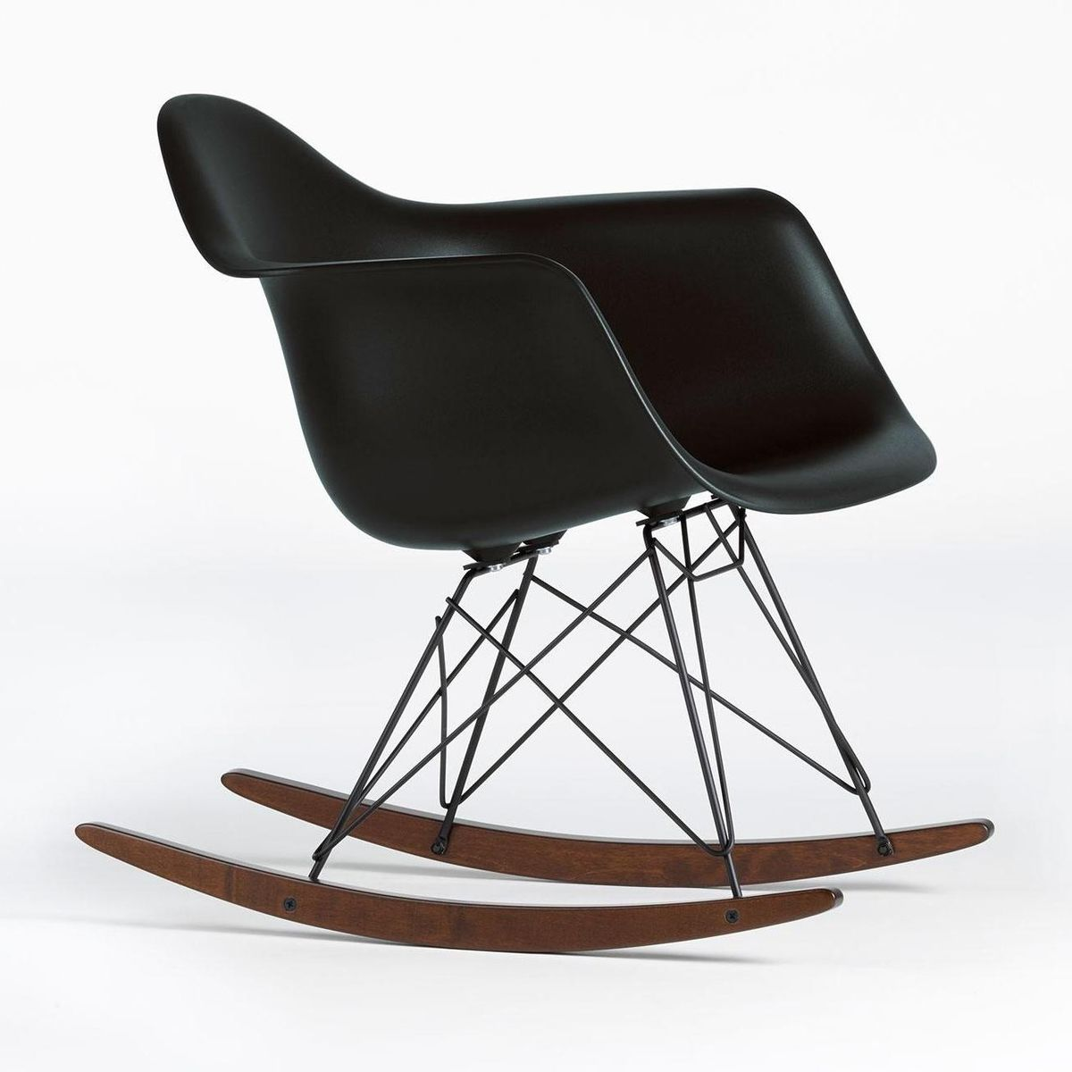 Eames plastic armchair rar schaukelstuhl vitra for Schaukelstuhl schwarz