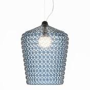 Kartell - Kabuki LED Pendelleuchte - hellblau/transparent/H x Ø: 73 x 50cm