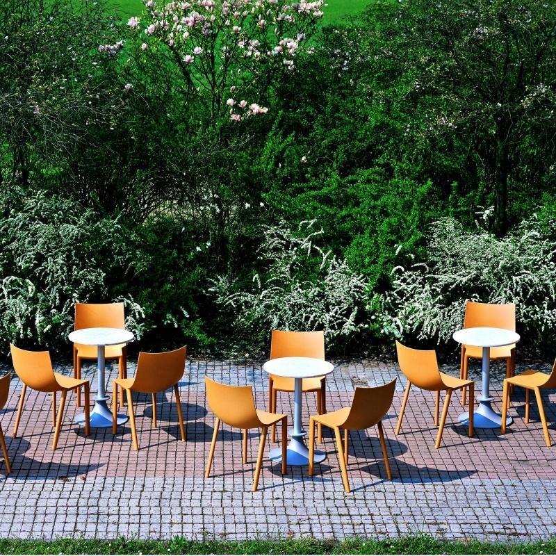 bo ensemble de 4 chaises de jardin driade. Black Bedroom Furniture Sets. Home Design Ideas
