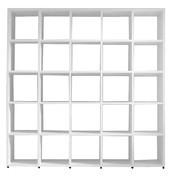 Flötotto - 355 Regal 5x5 - weiß/lackiert/25 Fächer à 38x40cm/ohne Rückwände