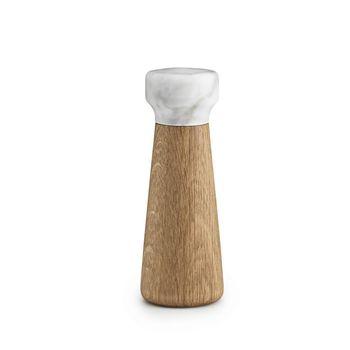 - Craft Salzmühle - marmor weiß/Fuß eiche natur/H x Ø 18 x 6.7cm