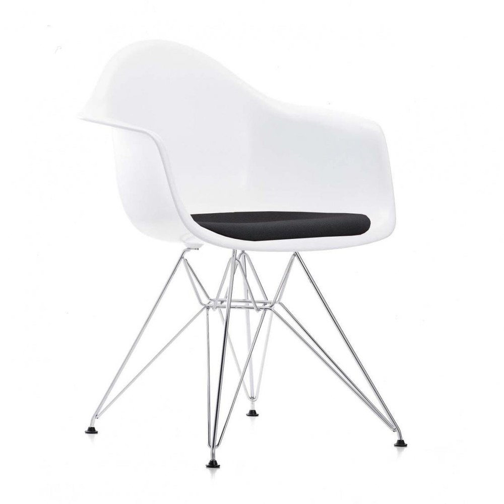 eames plastic armchair dar upholstered h43cm vitra. Black Bedroom Furniture Sets. Home Design Ideas