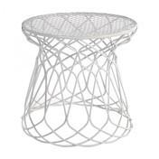 emu - Re-Trouvé Beistelltisch - weiß/Metall matt/H 45cm/Ø 45cm