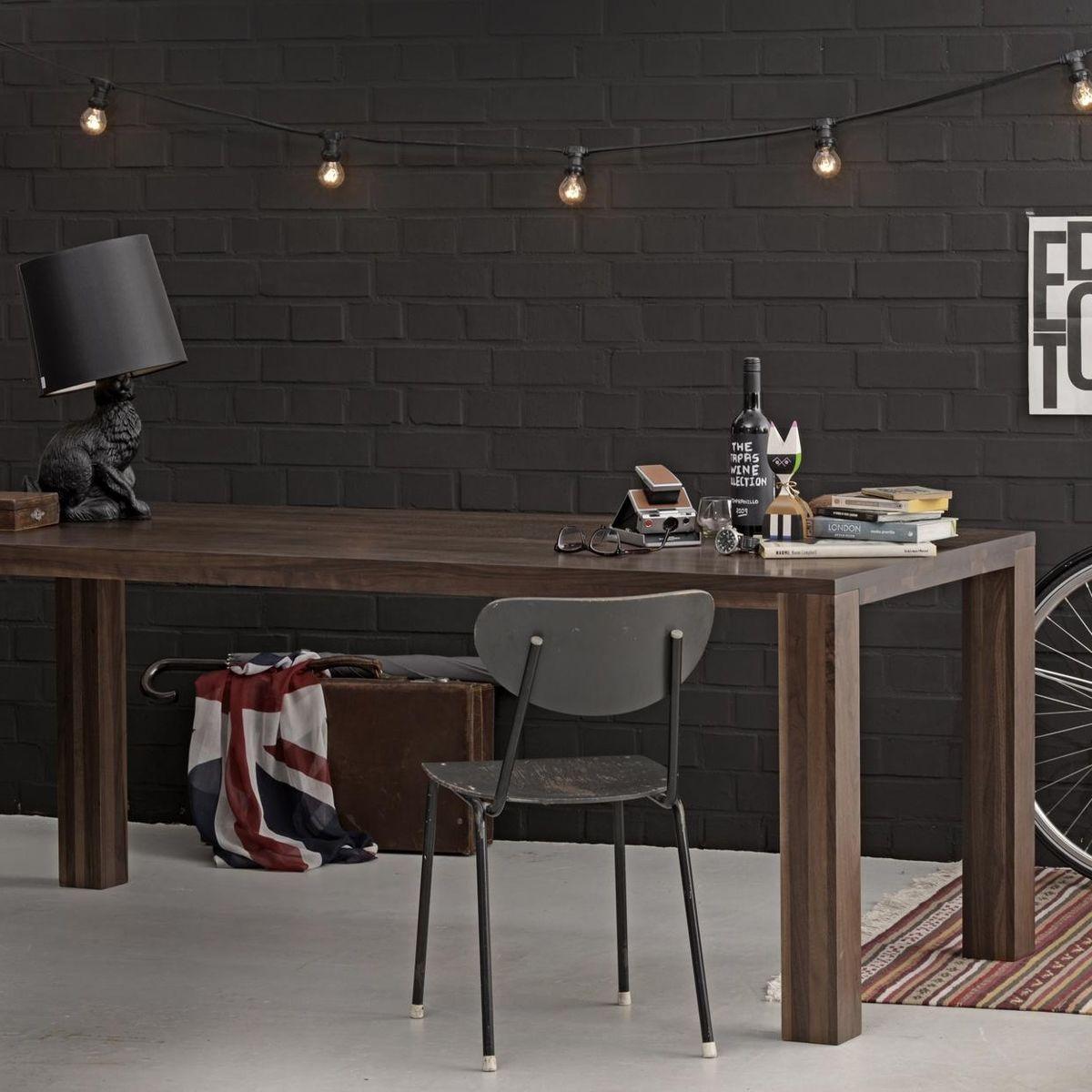 loft table de salle manger en bois massif adwood. Black Bedroom Furniture Sets. Home Design Ideas