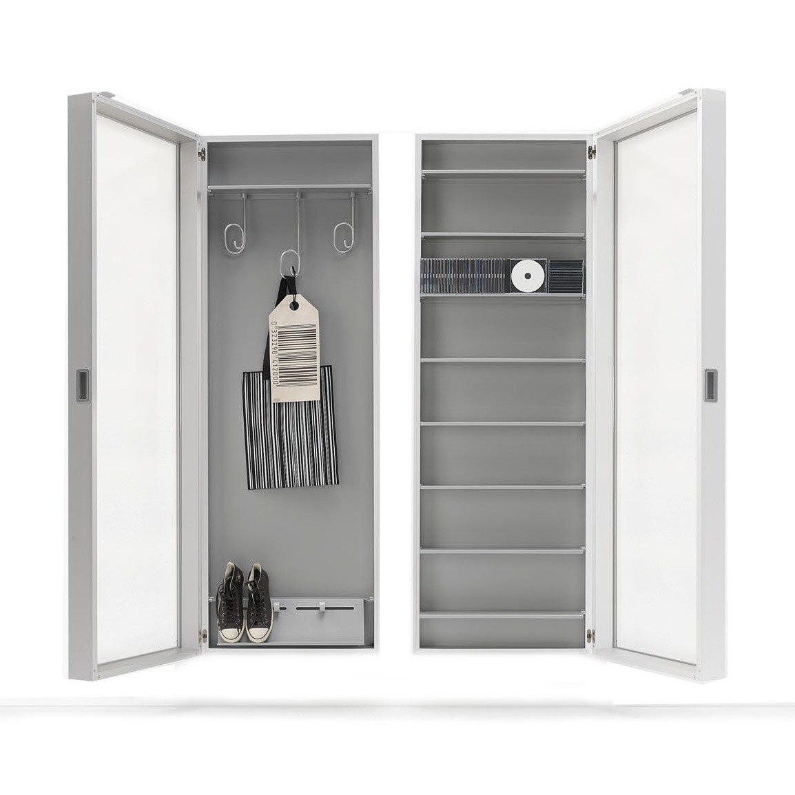 duty box h ngeschrank mit spiegel kristalia schr nke aufbewahrung m bel. Black Bedroom Furniture Sets. Home Design Ideas