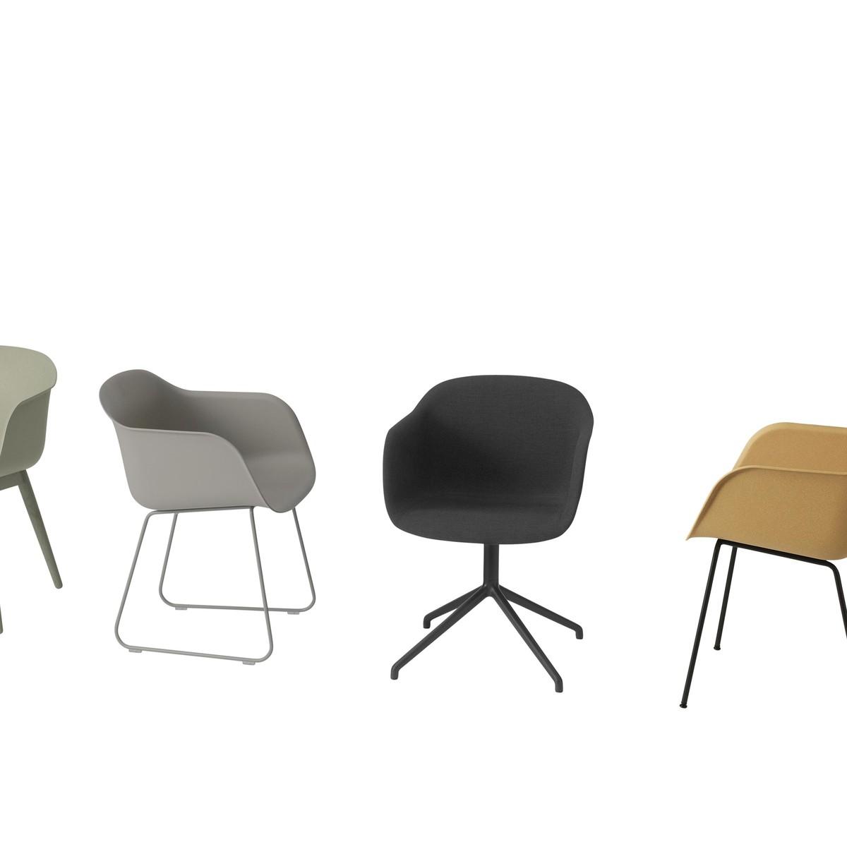fiber chair chaise pivotante muuto. Black Bedroom Furniture Sets. Home Design Ideas