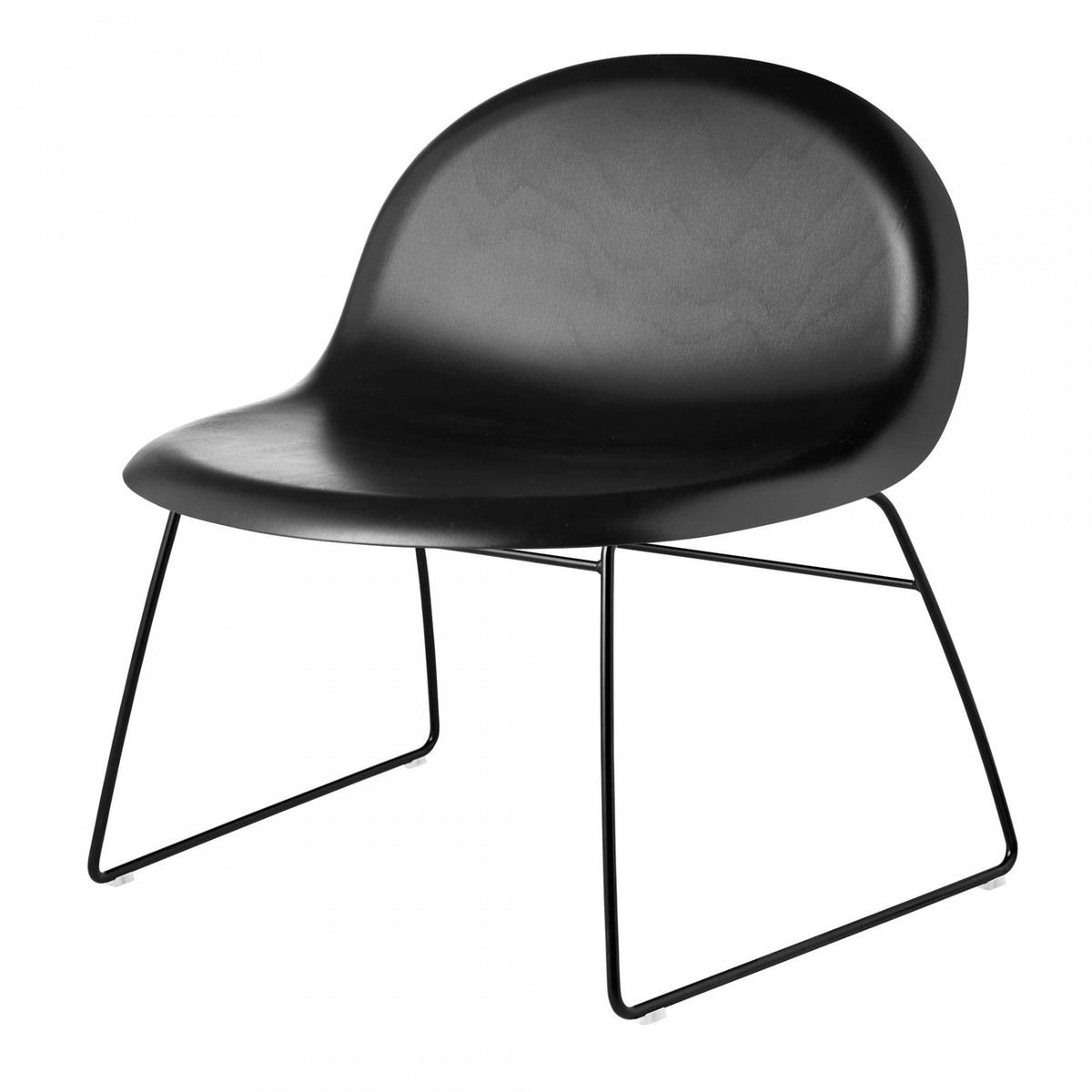 gubi 3d lounge chair sessel mit kufengestell gubi. Black Bedroom Furniture Sets. Home Design Ideas