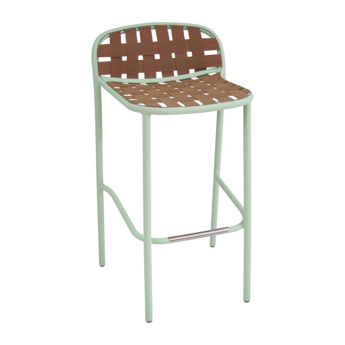 Emu   Yard Outdoor Bar Stool   Natural/frame Mint Green/LxWxH 50.5x50
