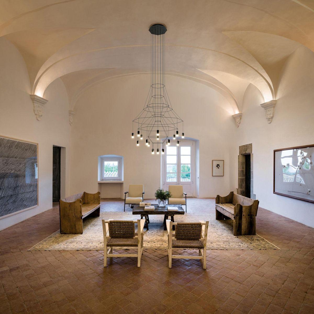 wireflow chandelier 0315 led suspension lamp vibia. Black Bedroom Furniture Sets. Home Design Ideas