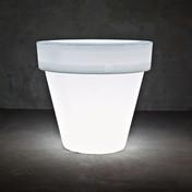 Serralunga - Vas Two Leuchte / Blumentopf L - neutral / ØxH 160x150cm/Kunststoff