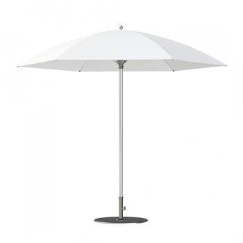 Tuuci - Bay Master Ultra-Flex Sonnenschirm - weiß/Gestell Aluminium/Solution dyed polyester/manuelle Öffnung mit Selbsverriegelung/225cm/sechseckig/6 Streben