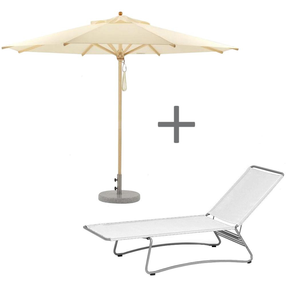 weish upl sunlounger with parasol weish upl. Black Bedroom Furniture Sets. Home Design Ideas