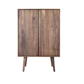 ADWOOD - Costima - Cómoda alto - nogal/aceitado/con 2 portes/102x150x45cm
