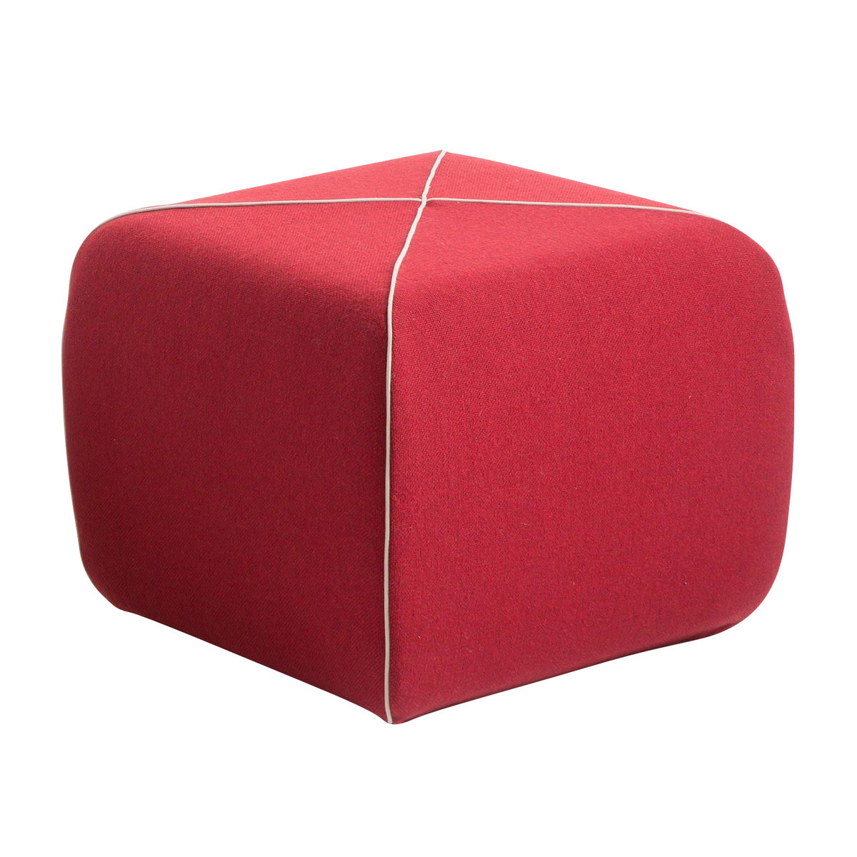 Crossed Pouf With Fabric B Line Stools Seating