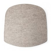 - Wick Sitzauflage - beige/Wolle/LxBxH 38x38x1cm