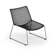 Weishäupl - Slope Lounge Sessel - schwarz/Gestell edelstahl/H x B x T: 83 x 60 x 78cm
